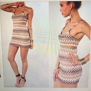Lovers and Friends colorful chevron dress.
